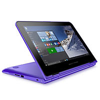 "HP Pavilion X360 HD Touchscreen Convertible 11.6"" Notebook, Intel Core m3-6Y30, 4GB Memory, 500GB Hard Drive, B&O Play Audio, Windows 10, Purple"