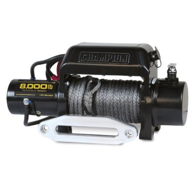 Champion 8000 lb Truck/SUV Winch Kit with Synthetic Rope.  Ends: Oct 23, 2014 10:00:00 AM CDT