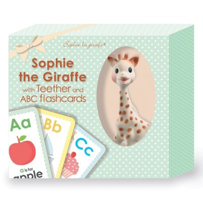 Sophie La Girafe Teether and ABC Flashcards