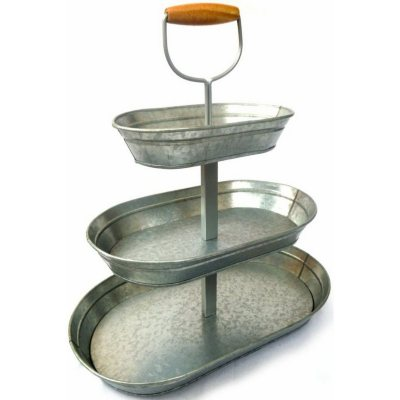 Triple-Tier Galvanized Steel Serving Stand.  Ends: Nov 26, 2015 7:15:00 PM CST