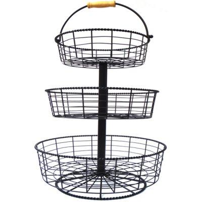 Giftburg 3-Tier Wire Basket.  Ends: May 6, 2015 5:45:00 AM CDT