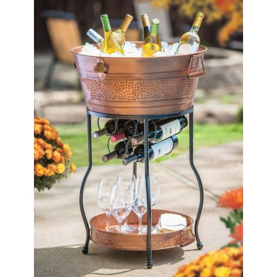 Galvanized Copper Party Bucket with Stand and Tray.  Ends: Feb 13, 2016 12:25:00 PM CST