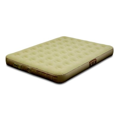 Queen Suede Airbed With Built-in Dry Cell Pump.  Ends: Aug 29, 2014 7:00:00 AM CDT