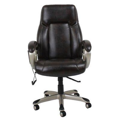 Barcalounger Shiatsu Massage Office Chair, Brown.  Ends: Feb 7, 2016 7:00:00 AM CST