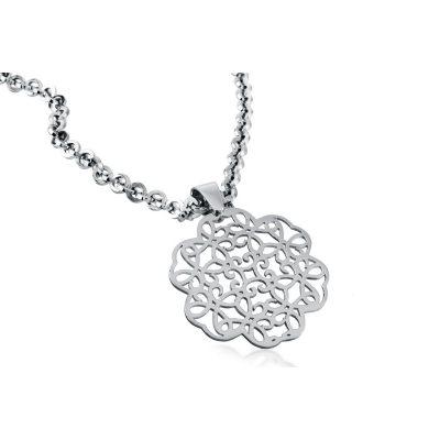 .925 Sterling Silver Cuzan Flower Pendant.  Ends: Oct 25, 2014 8:26:00 AM CDT