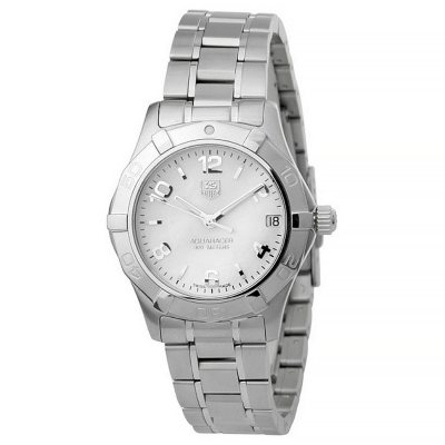 Tag Heuer Women's Aquaracer Mother-of-Pearl Watch.  Ends: May 3, 2016 2:20:55 PM CDT