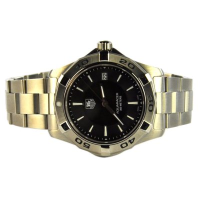 TAG Heuer Aquaracer Black Dial Watch.  Ends: Oct 22, 2014 10:50:00 PM CDT