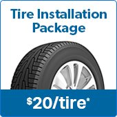 Samss Club Tire Installation Package