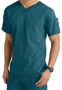 Greys Anatomy 3-pocket v-neck mens scrub top.