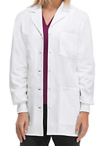 Cherokee 32 inch knit cuff lab coat with Certainty.