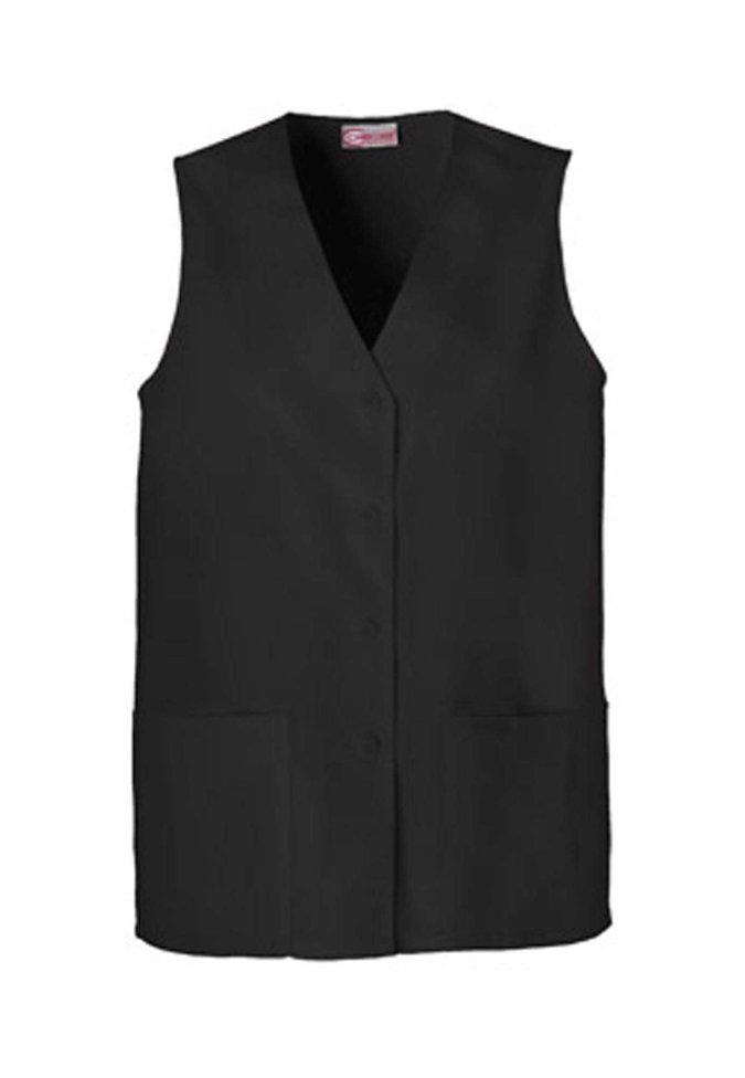 Cherokee button down scrub vest.