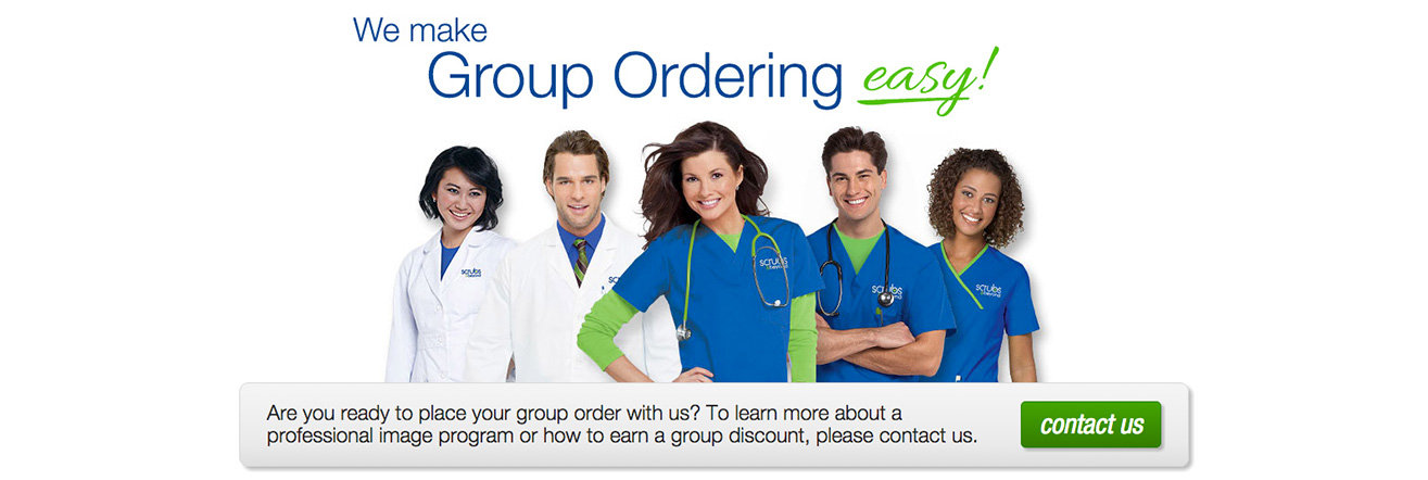 order scrubs for your group