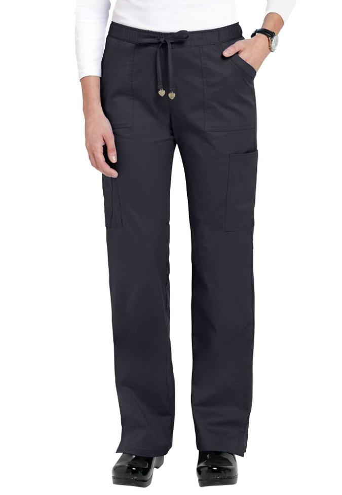 HeartSoul Charmed 6-pocket cargo scrub pants.