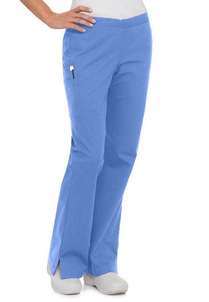 Landau Smart Stretch 5 pocket flare cargo scrub pants.