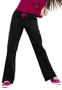 Smitten Posh Showstopper slim flare scrub pants.