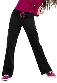 Smitten Posh Showstopper slim flare scrub pants.