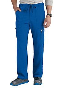 Greys Anatomy mens 6-pocket drawstring waist scrub pants.