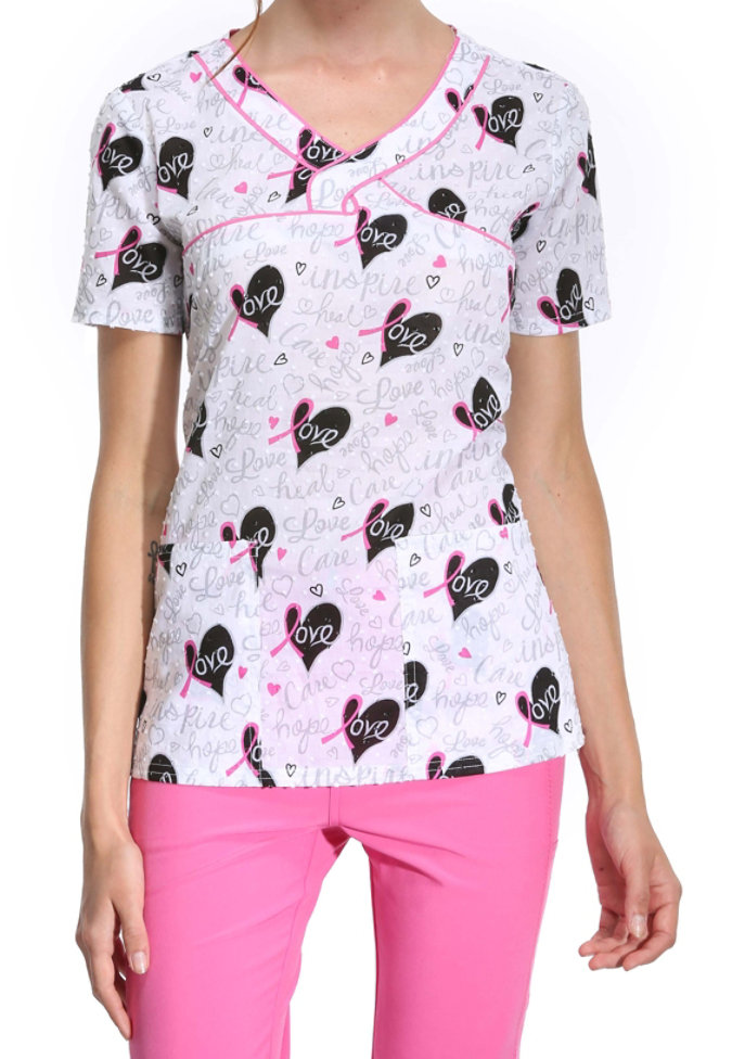 HeartSoul Love to Inspire print top.
