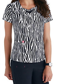 HeartSoul Love to Safari print scrub top.