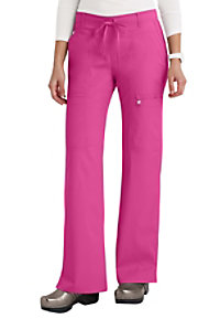 Cherokee Luxe junior fit low rise cargo scrub pants.