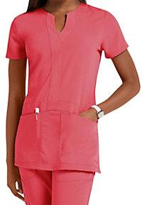 Greys Anatomy Signature 2-pocket y-neck scrub top.