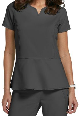 179526fa616 $26.99 More Details · Healing Hands Purple Label Julie notch neck scrub top.  - Pewter - XS