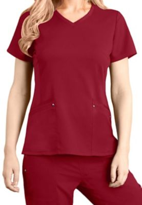 e1b8c1cebf2 $18.98 More Details · Healing Hands Purple Label Juliet knit panel scrub top.  - Red - 2X