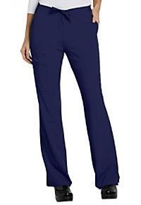 Jockey drawstring zipper pocket cargo scrub pants.