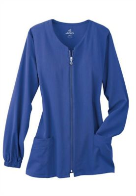Jockey 3-pocket Zip-front Scrub Jackets - Galaxy Blue - XS plus size,  plus size fashion plus size appare