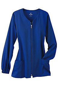 Jockey 3-pocket zip-front scrub jacket.
