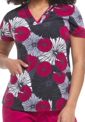 68b964f03eb Healign Hands Purple Label Amanda Boutique Floral print scrub top. -  Boutique Floral - 3X - by Healing Hands