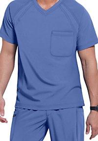 Jockey Mens 3-pocket v-neck scrub top.