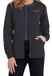 Cherokee Flexibles zip-front scrub jacket.