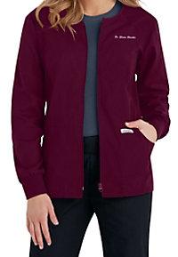 Cherokee Flexibles zip-front scrub jacket.