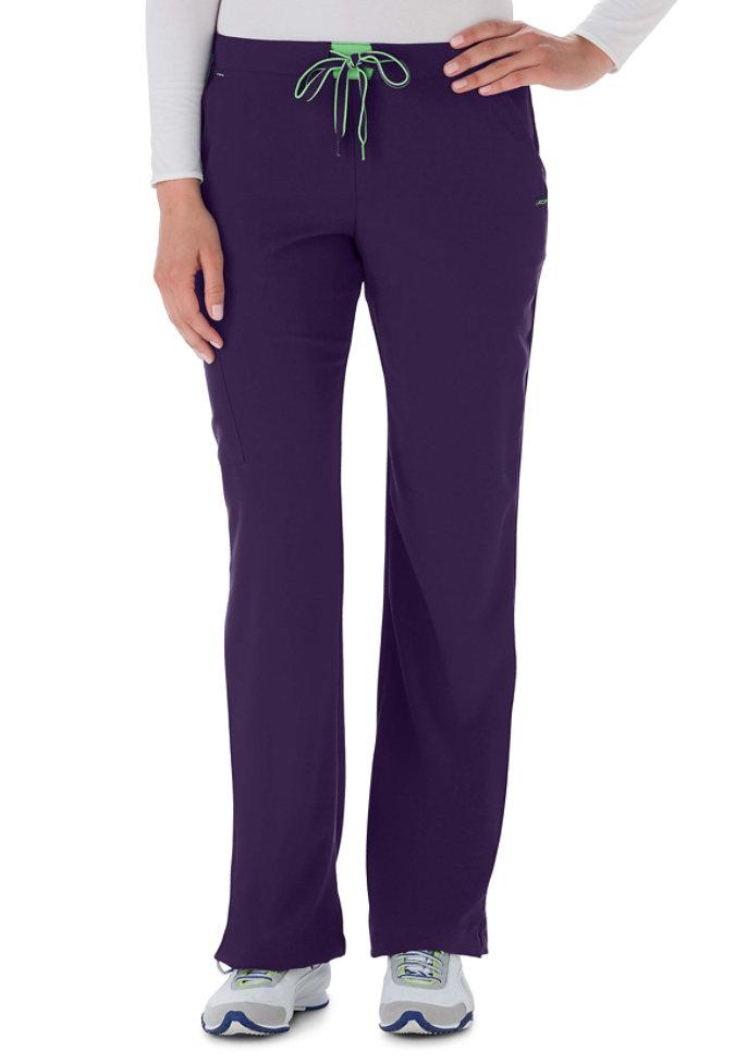 Jockey contrast elastic belt scrub pants.