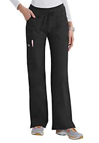 Cherokee Workwear Core Stretch junior fit cargo scrub pants.