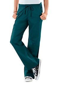 Cherokee Workwear Core Stretch Modern Fit Low-Rise drawstring pants.