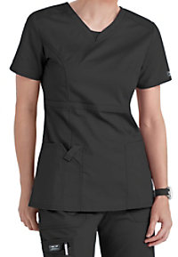 Cherokee Workwear Core Stretch v-neck junior fit scrub top.