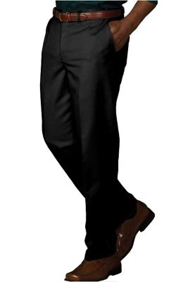 Edwards Garment mens easy fit chino pants. - Black - 28