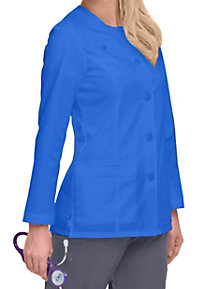 Landau Smart Stretch women's scrub jacket.