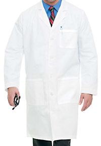 Landau mens full length lab coat.