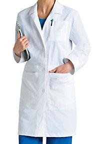 Landau women's lab coat with iPad pocket.