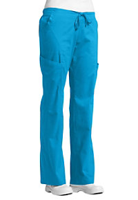 White Cross Allure 6 pocket cargo scrub pants.