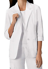 Cherokee white ric-rac lab coat with Certainty.