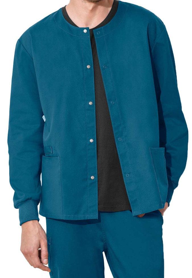 Cherokee Workwear Flex unisex scrub jacket with Certainty.