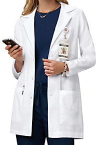 Cherokee 32 inch 3 button lab coat with Certainty.