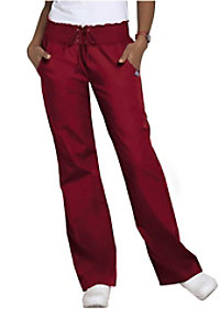 Cherokee Workwear smocked waist scrub pants.
