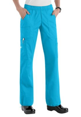 Cherokee Workwear Core Stretch Comfort Waist Cargo Scrub Pants - Hawaiian Ocean - 3X