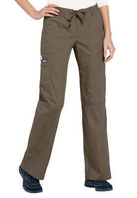 Cherokee Workwear Trendy Cargo Scrub Pant - Taupe - PXL