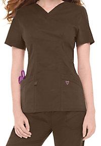 Landau Twill Collection v-neck scrub top.